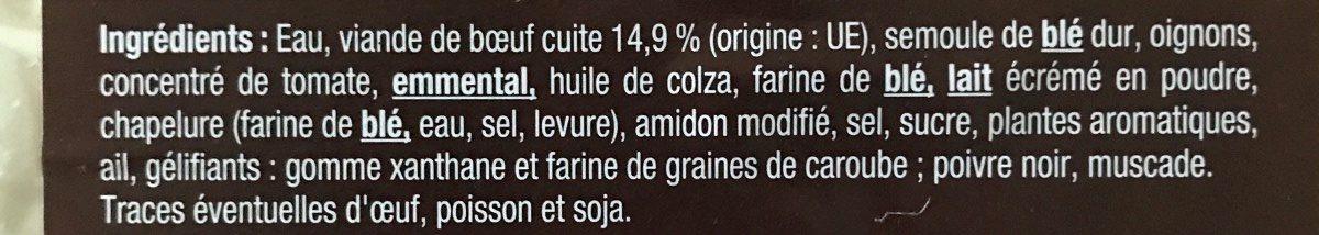 Cannelloni Bolognaise - Ingrédients - fr