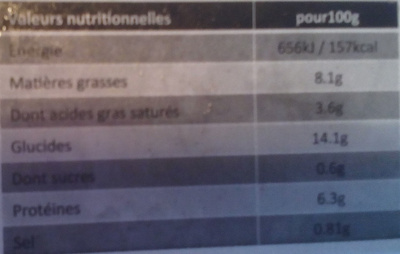 Lasagnes fraîches à la bolognaise - Informations nutritionnelles