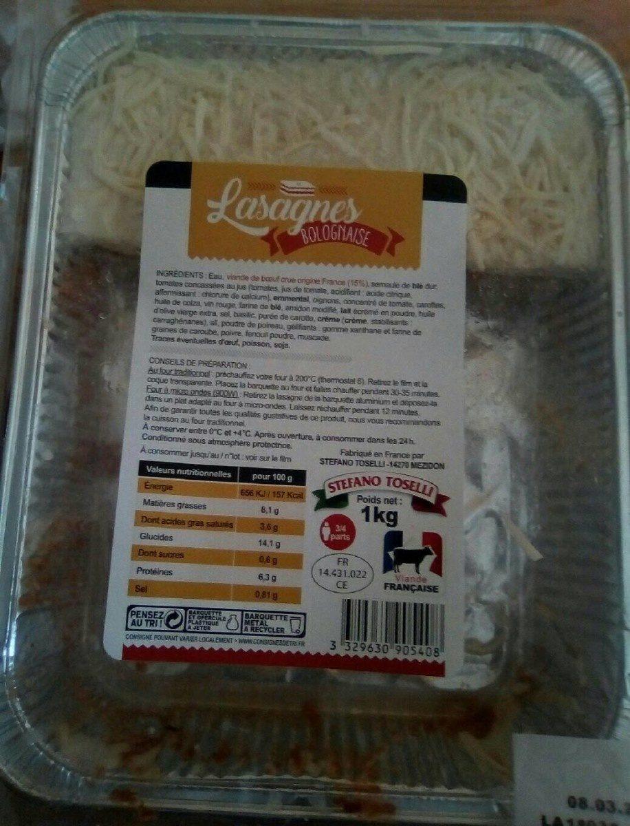 Lasagne bolognaise au boeuf - Produit