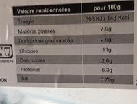 Lasagne Bolognaise au Bœuf - Nutrition facts - fr