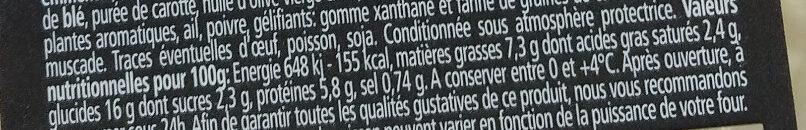 Lasagne bolognaise au Boeuf - Informations nutritionnelles - fr
