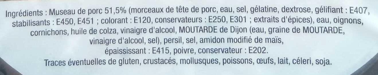 Museau de Porc - Ingrédients - fr