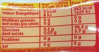 Edulcorant Canderel - Informations nutritionnelles - fr