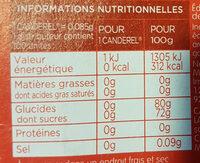 Stevia d'origine naturelle - Voedingswaarden - fr
