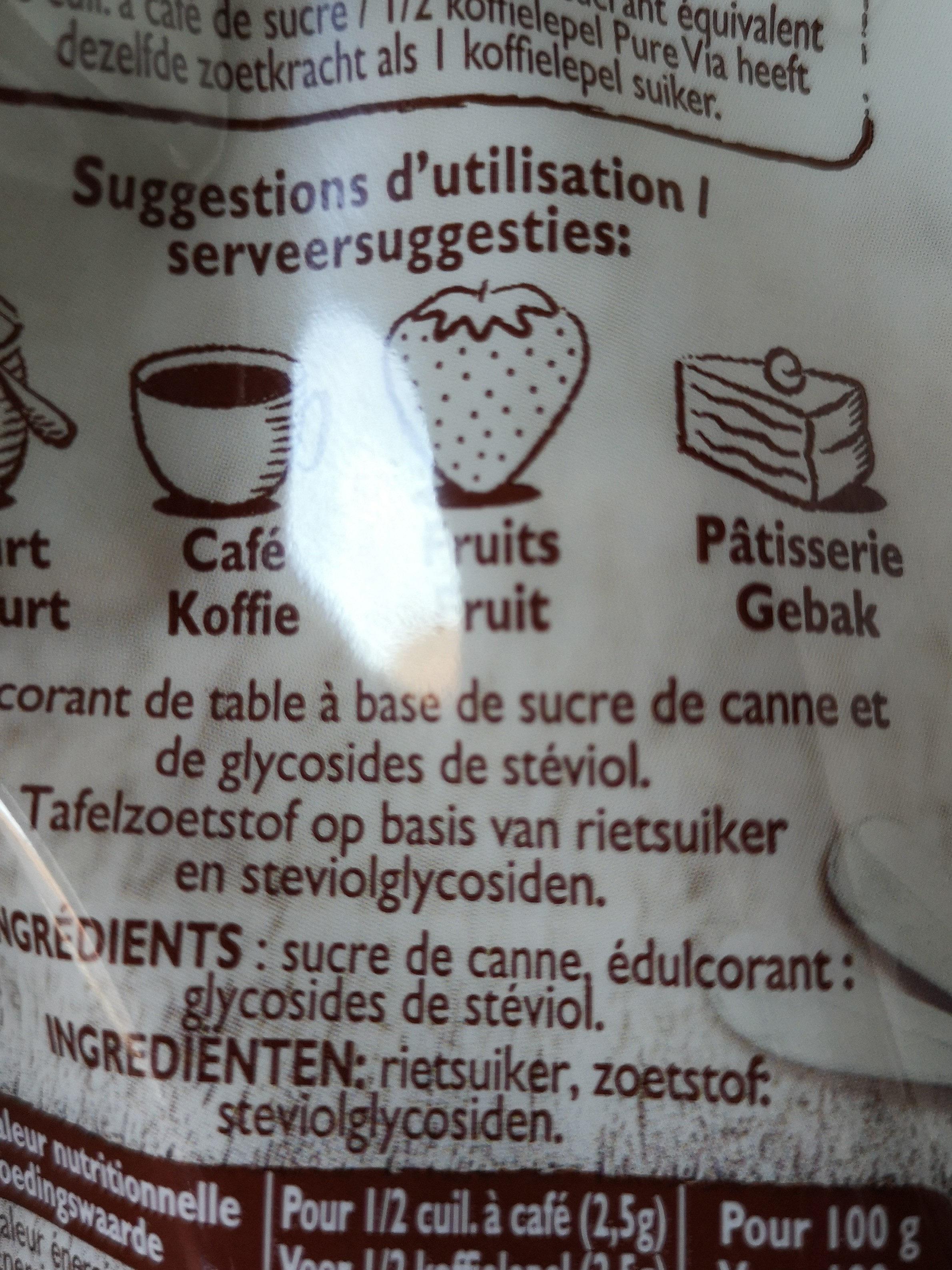 Pure via stevia - Ingrédients