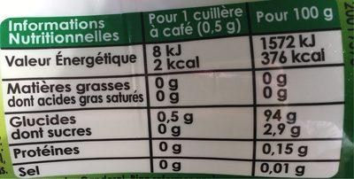 canderel Stévia - Informations nutritionnelles - fr