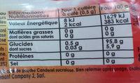 Canderel sans aspartame - Ingrédients - fr