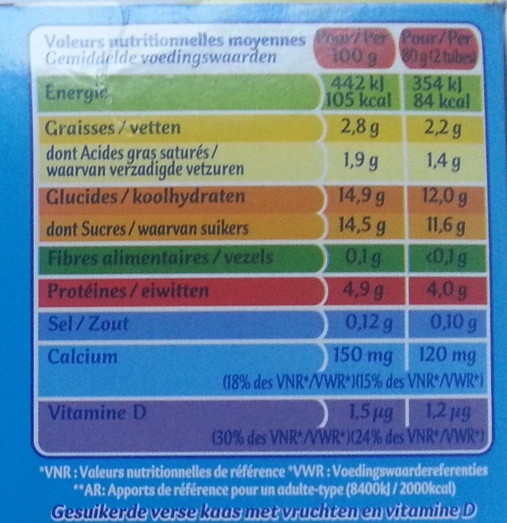 Petits Filous tub's (offre €co) - Nutrition facts - fr