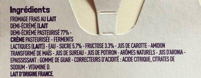 Petits filous panachés - Ingredients