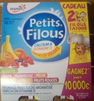 Petits Filous (6 Goûts : Fraise, Framboise, Pêche, Banane, Abricot, Fruits Rouges) 18 Pots - Produit