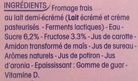 Petits Filous (6 Goûts : Fraise, Framboise, Pêche, Banane, Abricot, Fruits Rouges) 18 Pots - Ingrédients