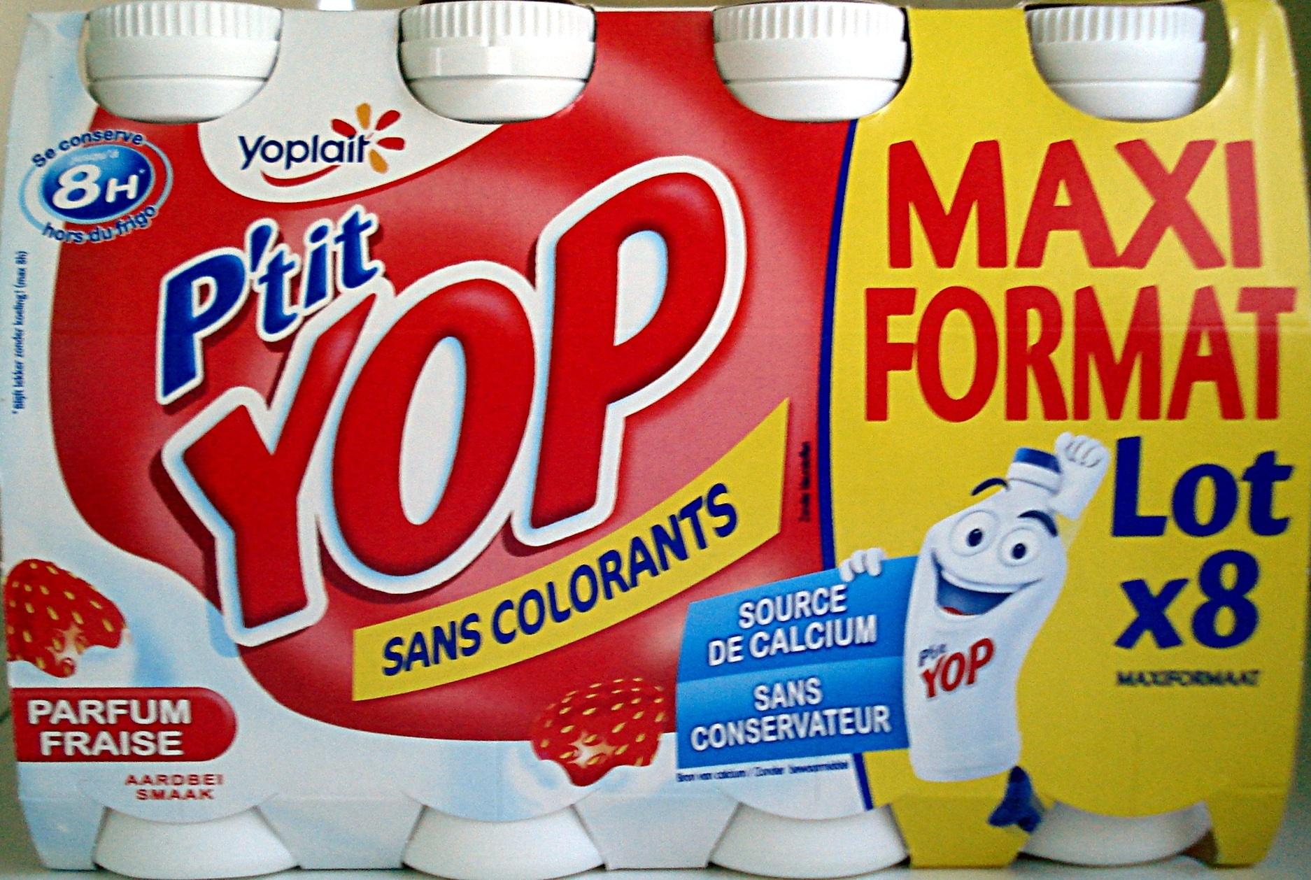 P'tit Yop, Parfum Fraise (Maxi Format Lot x 8) - Product - fr