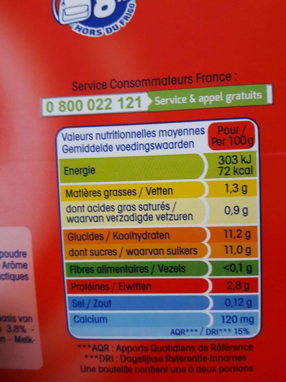 P'tit Yop, Parfum Fraise (Maxi Format Lot x 8) - Nutrition facts - fr