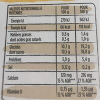 P'tit Yop Vanille - Nutrition facts - fr