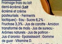 Petits Filous (6 Goûts : Fraise, Banane, Pêche, Abricot, Fruits Rouges, Framboise) 18 Pots - Ingredients