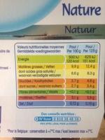 Perle de Lait Nature (8 pots) - Offre Découverte - Informations nutritionnelles - fr