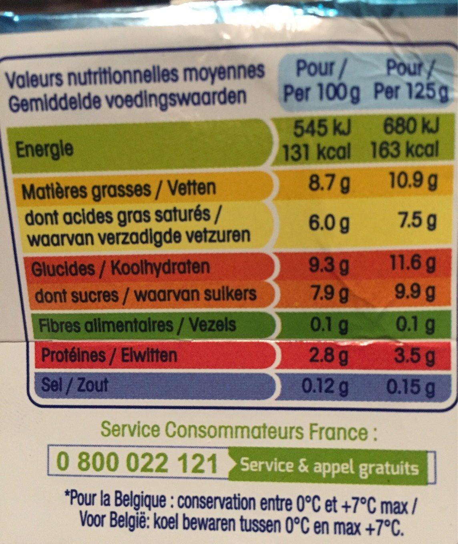 perle de lait calories