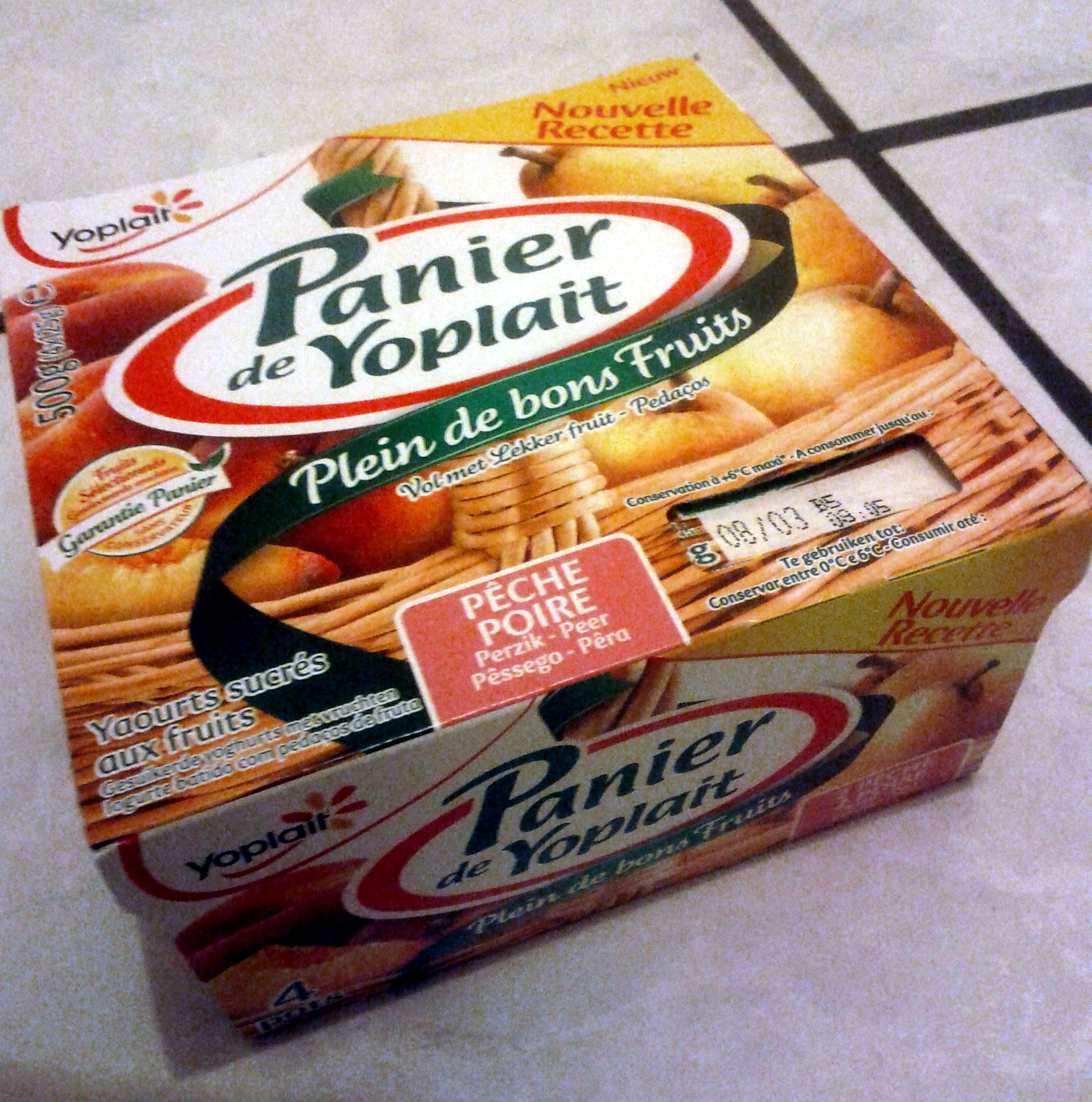 Panier de Yoplait Pêche, Poire - Product