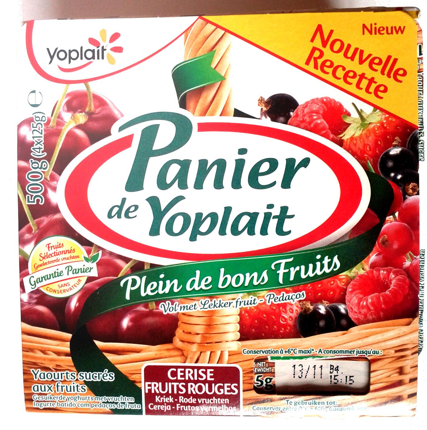 Panier de Yoplait Cerise, Fruits rouges - Product