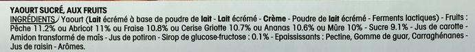 Panier de Yoplait (format économique) - Ingrédients