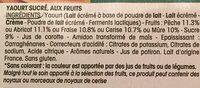 Panier de Yoplait L'Original - Ingrédients - fr