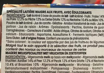 PANIER 0% MG FRUITS PANACHES 125Gx12 - Ingrediënten