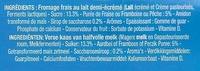 Petits Filous tub's (3 Fraises, 3 Framboises, 3 Pêches) - Ingrédients - fr