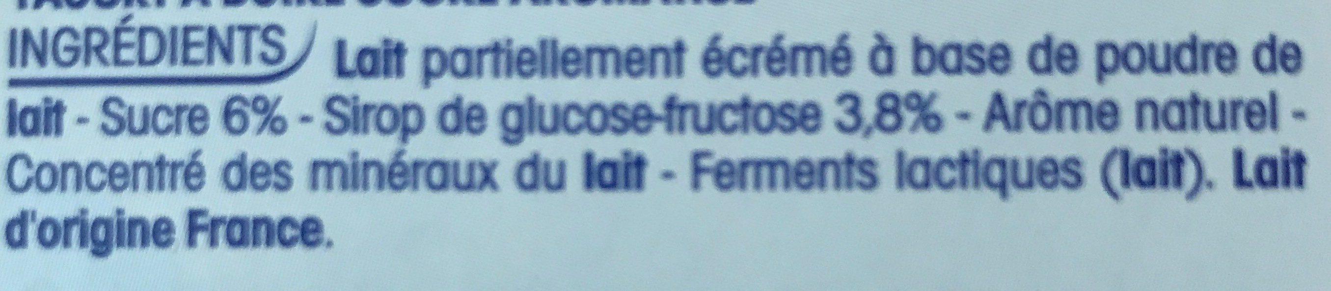 Mini Yop Fraise - Ingrediënten