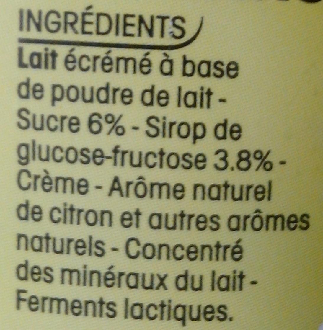 Yop, Parfum Citron - Ingredienti - fr