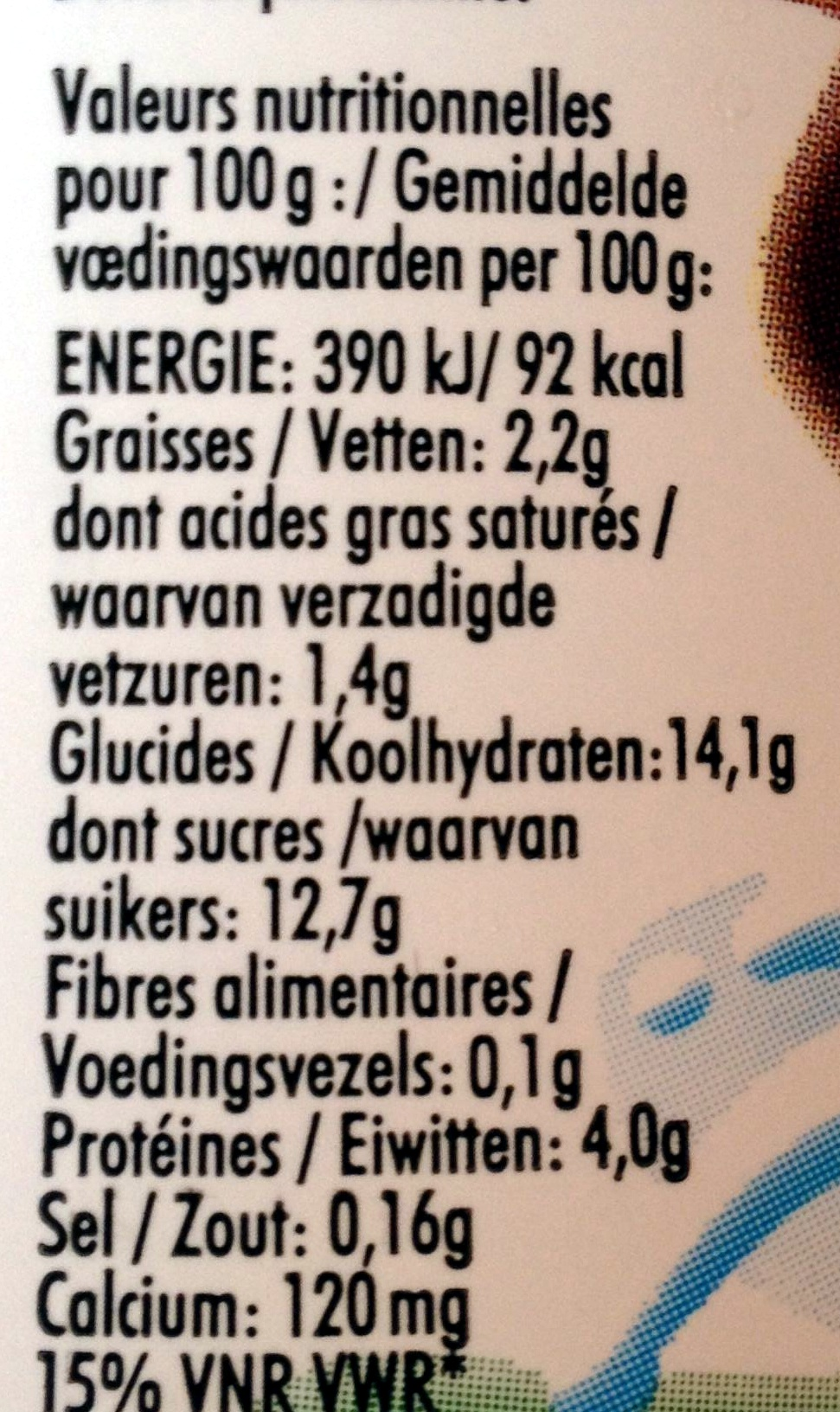 Yop, Chocolat - Informations nutritionnelles - fr