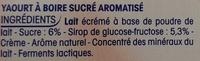 P'tit Yop goût Fraise - Ingredients - fr