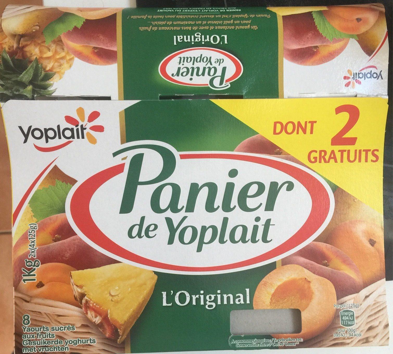 Panier de Yoplait Fruits 125Gx8 - Produit
