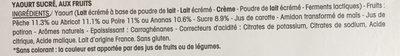 Panier de Yoplait Fruits 125Gx8 - Ingrédients