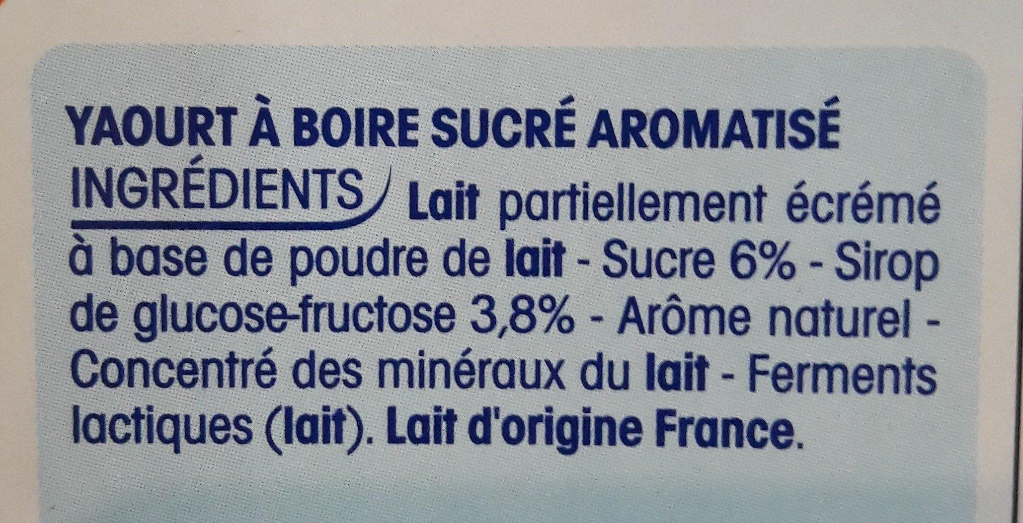Mini Yop goût Fraise - Ingrediënten - fr