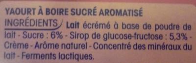 P'tit Yop, Goût Fruits Rouges - Ingredients