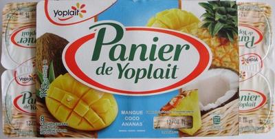 Panier de Yoplait Exotique Mangue, Coco, Ananas - Produit - fr
