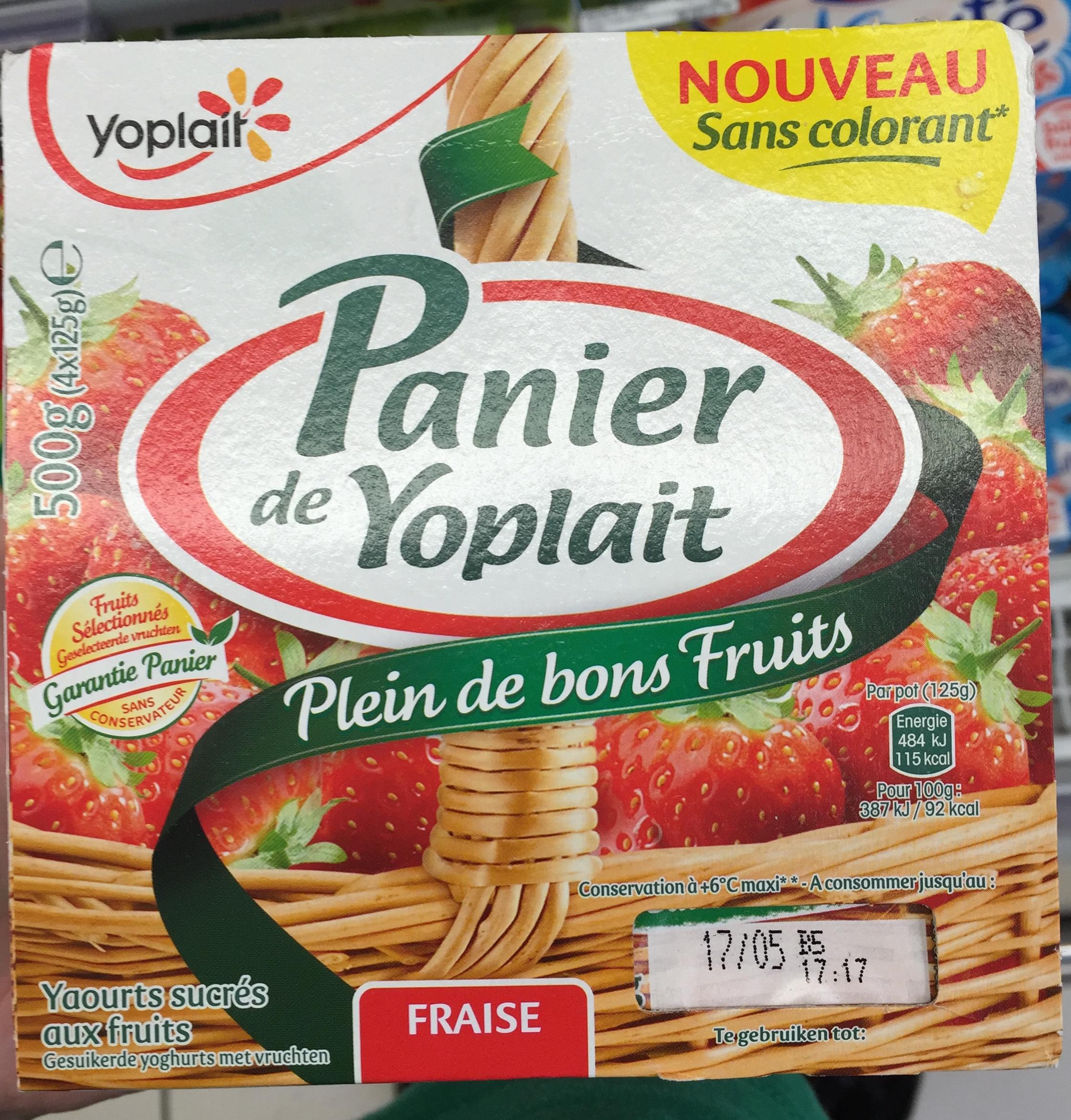 Panier de Yoplait Fraise - Product
