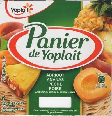 Panier de Yoplait (Abricot, Ananas, Pêche, Poire) 6 Pots - Produit