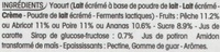 Panier de Yoplait (Abricot, Ananas, Pêche, Poire) 6 Pots - Ingrédients