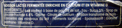 Calin + à boire, Nature sucré (Maxi Format) - Ingrediënten
