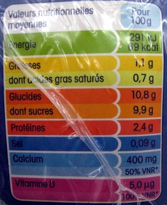 Calin + à boire, Nature sucré (Maxi Format) - Voedigswaarden