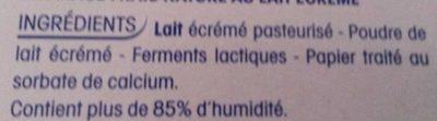 Petit Yoplait 0% - Ingrediënten - fr