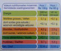 Petit Yoplait 0% - Voedingswaarden - fr