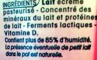 Calin nature (0 % MG) - Ingredients - fr