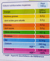 YOPLAIT CALIN + FROMAGE BLANC NATURE - Informations nutritionnelles - fr