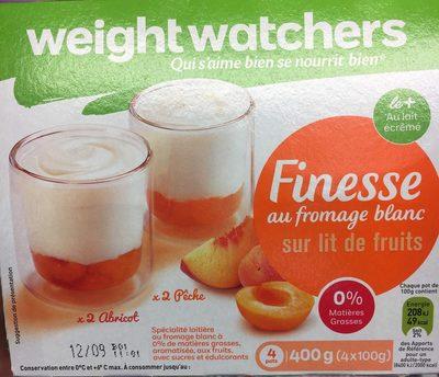 WEIGHT WATCHERS FINESSE 0% MG SUR LIT DE FRUITS JAUNES 100GX4 - Voedingswaarden