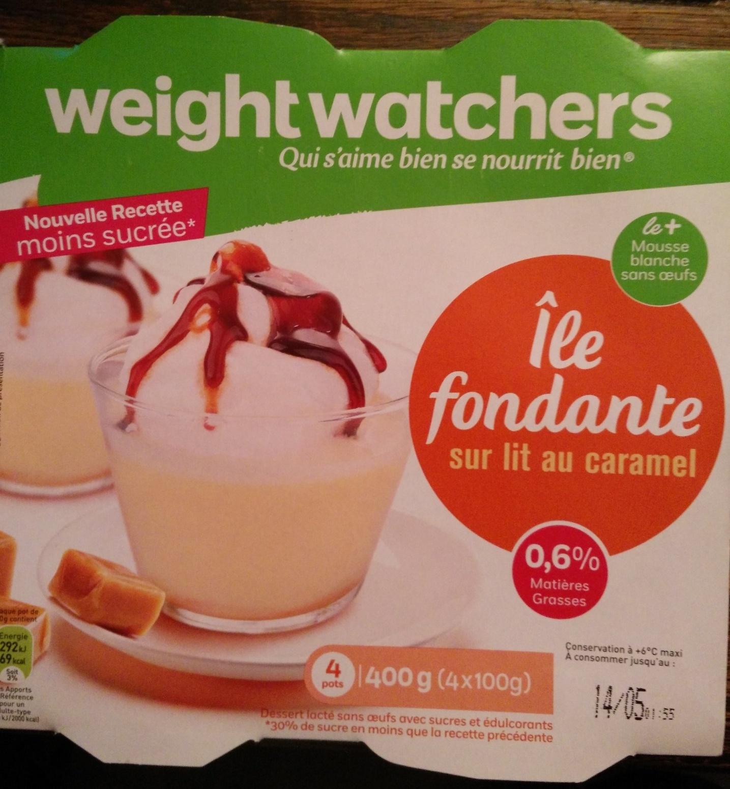 Île Fondante sur lit de caramel (0.6% MG) - Produit - fr