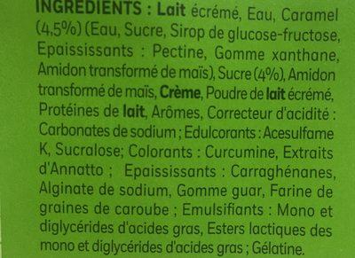 Île Fondante sur lit de caramel (0.6% MG) - Ingrédients - fr