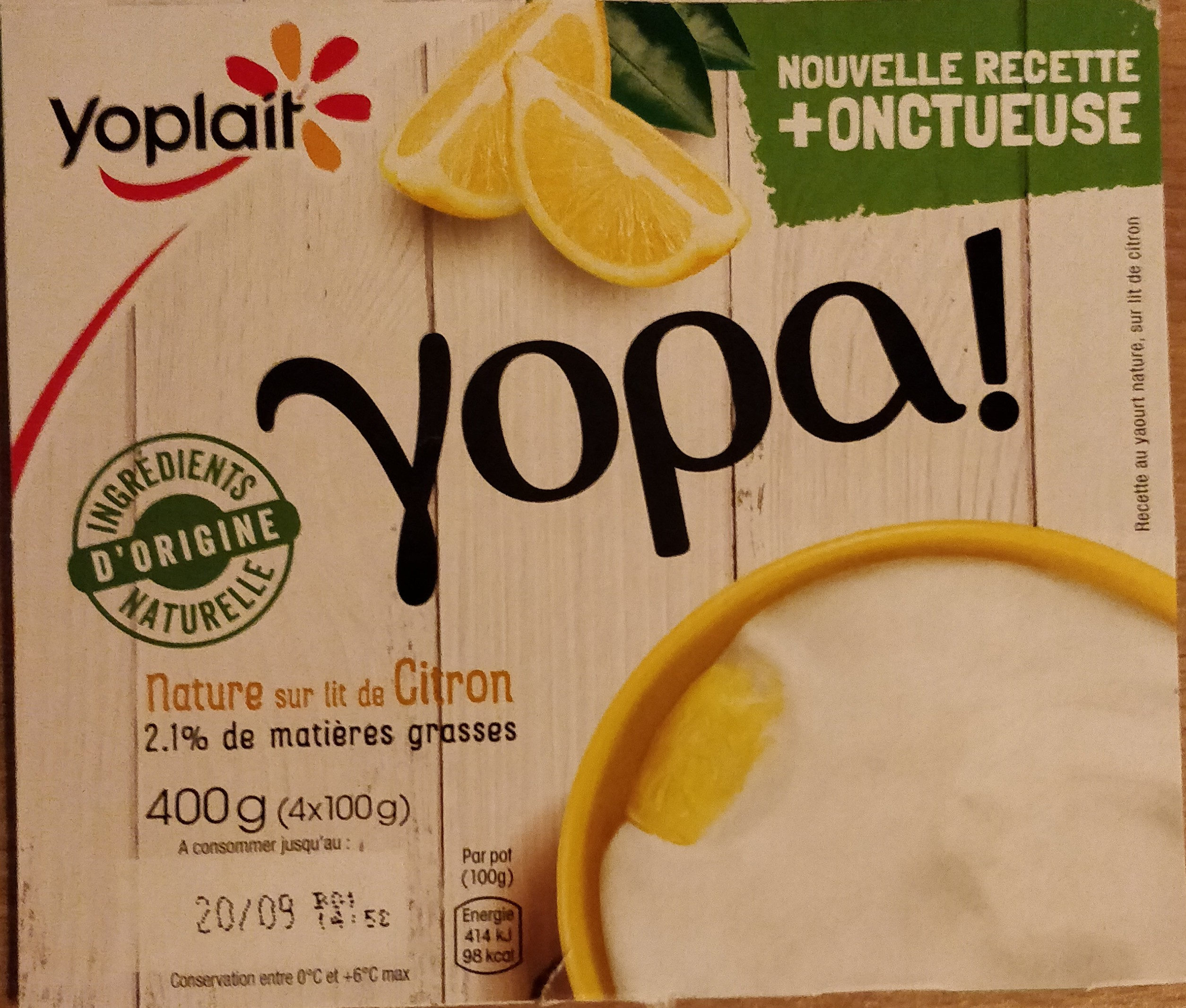Yopa citron - Produit - fr