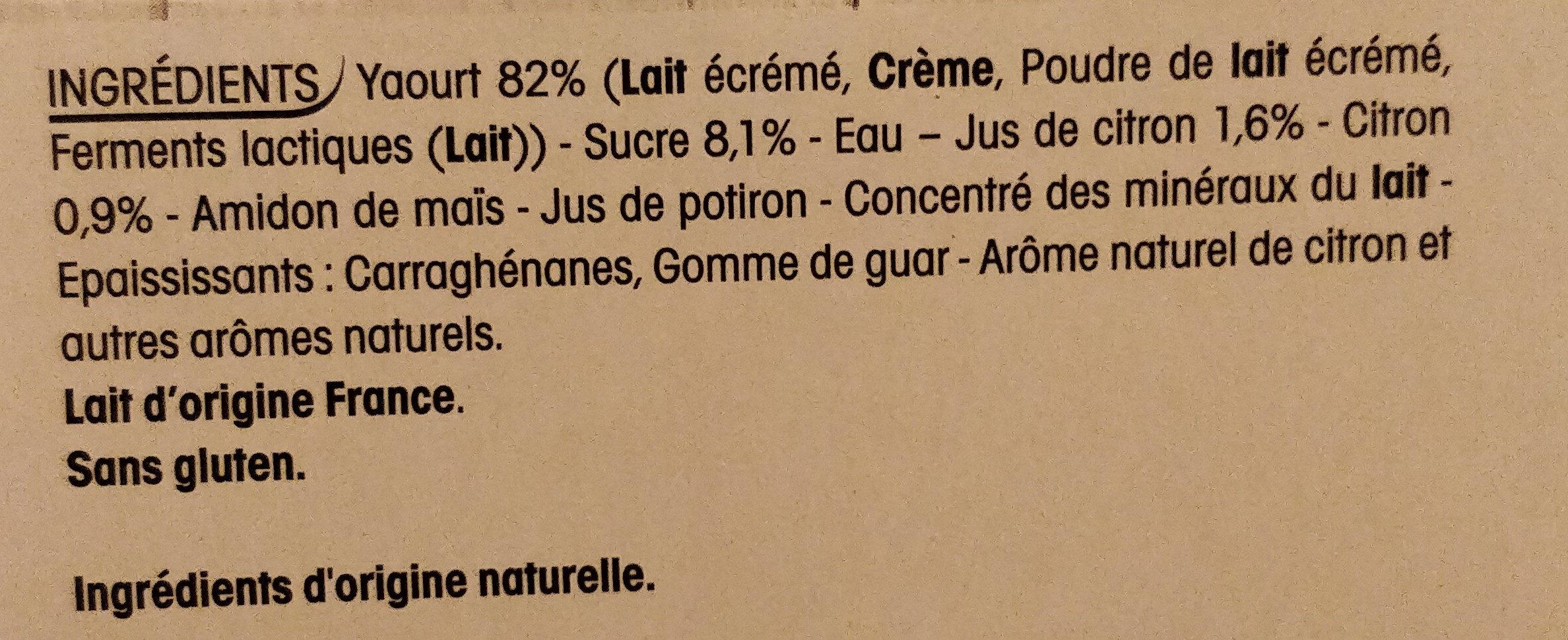Yopa citron - Ingrédients - fr